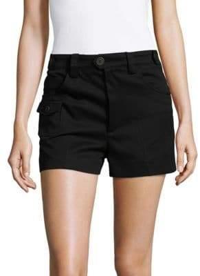 Miu Miu Cotton Plain Shorts