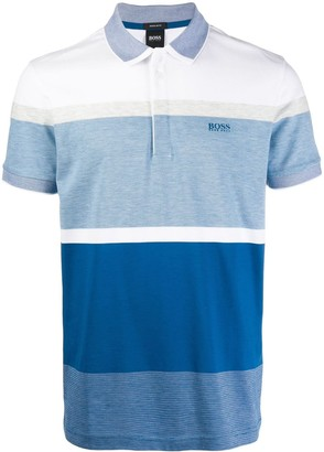 HUGO BOSS Striped Print Polo Shirt