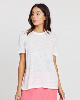 Scotch & Soda Short Sleeve Linen T-Shirt
