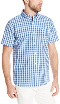 Izod Men's Short Sleeve Non-Iron Large Check Shirt