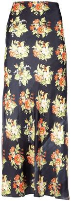 Paco Rabanne Floral Print Maxi Skirt