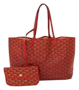 Goyard Saint-Louis Red Leather Handbags