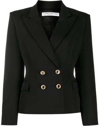 Alessandra Rich Fitted Double-Breasted Jacket