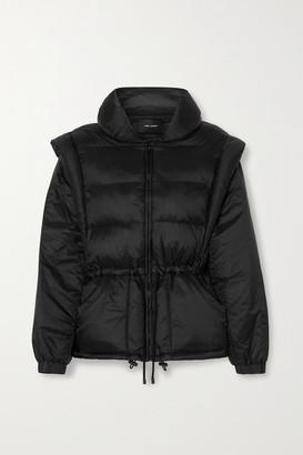 Isabel Marant Darsha Convertible Quilted Padded Shell Jacket - Black