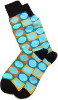 Rob-ert Arthur George by Robert Kardashian Circle-on-Square Men's Socks, Turquoise