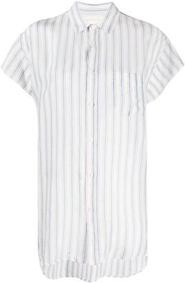 Maison Margiela Stripe-Pattern Short-Sleeve Shirt