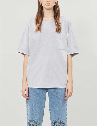 Topshop Oversized cotton-jersey T-shirt