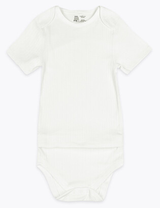 Marks and Spencer Adaptive Pure Cotton Bodysuit (7lbs-16 Yrs)
