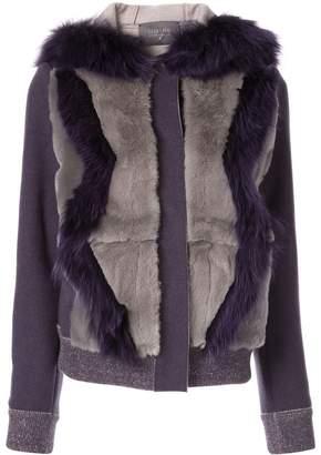 Lorena Antoniazzi fur-trimmed bomber jacket