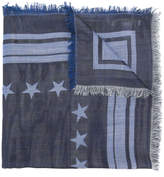 Givenchy logo star-patch scarf