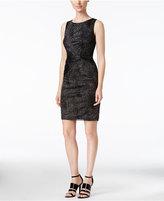 Calvin Klein Metallic Sheath Dress