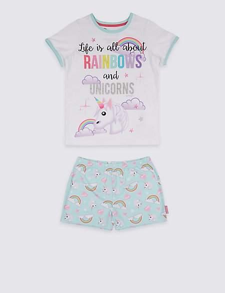 Marks and Spencer EmojiTM Printed Short Pyjamas (7-16 Years)