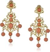 Kenneth Jay Lane Gold-Tone Filigree Earrings with Drops