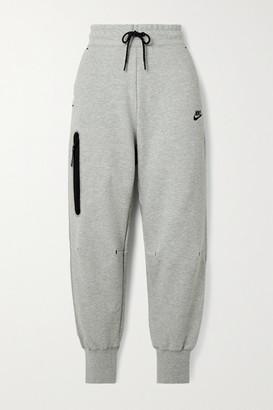 Nike Cotton-blend Jersey Track Pants - Gray