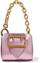 Burberry Metallic Textured-leather Keychain - Pink