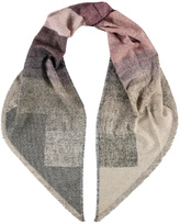 Fraas Ombre Block Rosewood Scarf