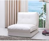 Abbyson Living® Jackson Faux Leather Sleeper Chair in White