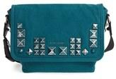 Marc Jacobs 'Small Studs' Canvas Messenger Bag - Blue/green