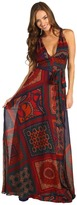 Hale Bob What Goes Around Comes Around Maxi Dress (Rust) - Apparel