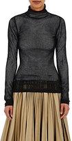 Loewe Women's Mesh Mock Turtleneck Sweater-BLACK