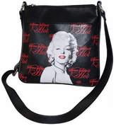 """Monroe Women's Marilyn Forever Beautiful """"Some Like It Hot"""" Messenger - Black"""