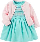 Carter's 2-pc. Sleeveless Dress & Cardigan Set - Baby Girls newborn-24m