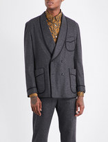 Camoshita Brushed wool-blend jacket