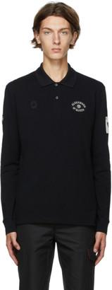 Alexander McQueen Black Badges Long Sleeve Polo