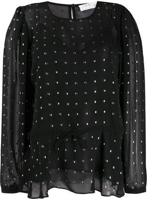 IRO studded crepe-chiffon blouse