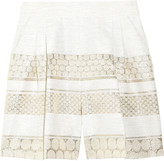 Giambattista Valli High-waisted cotton-blend and jacquard shorts