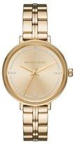 Michael Kors Bridgette Yellow-Golden Bracelet Watch with Crystals