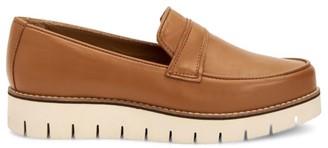 Aquatalia Genevive Leather Lug Sole Platform Loafers