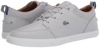 Lacoste Bayliss 120 1 U (Light Grey/Off-White) Men's Shoes