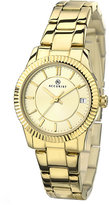 Accurist Ladies' Champagne Dial Gold-Plated Bracelet Watch