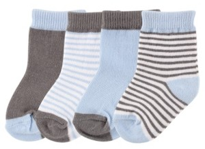 Luvable Friends Basic Socks, 4-Pack, 0-24 Months