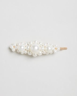 Johnny Loves Rosie Pearl Flower Large Hair Clip