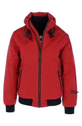 Chiemsee Women's Ski Blouson, einfarbig mit Strickbund Jacket, (red Dahlia), L