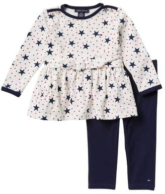 Tommy Hilfiger Star Tunic & Leggings Set (Baby Girls)