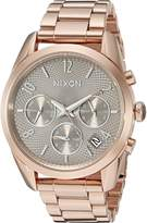 Nixon Women's A9492214-00 Bullet Chrono 36 Analog Display Japanese Quartz Rose Gold Watch
