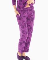 Soma Intimates Ankle Pajama Pants Mademoiselle Rio Plum Black
