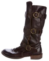 Fiorentini+Baker Leather Buckle-Accented Boots