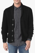 7 For All Mankind Cable Shawl Cardigan In Black