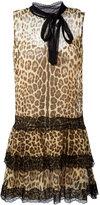 RED Valentino leopard print flared dress - women - Silk/Polyamide/Polyester - 44