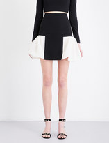 David Koma Puff-hem stretch-crepe mini skirt