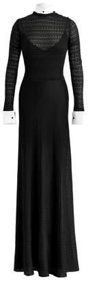 Ralph Lauren Crystal Silk Knit Gown