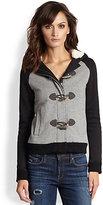 Splendid Varsity Hooded Toggle-Front Sweatshirt