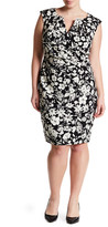 Adrianna Papell Printed Drape Dress (Regular, Petite, & Plus Size)