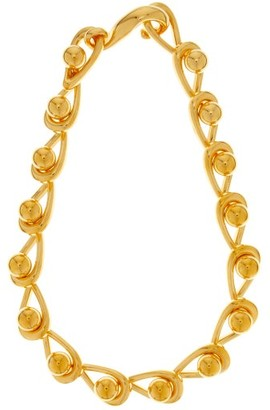 Loewe Drop-chain Choker Necklace - Gold