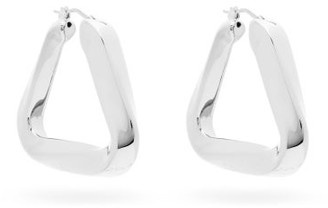 Bottega Veneta Triangle Sterling-silver Hoop Earrings - Silver