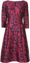 Oscar de la Renta floral print dress - women - Silk/Cotton/Nylon/Polyester - 4